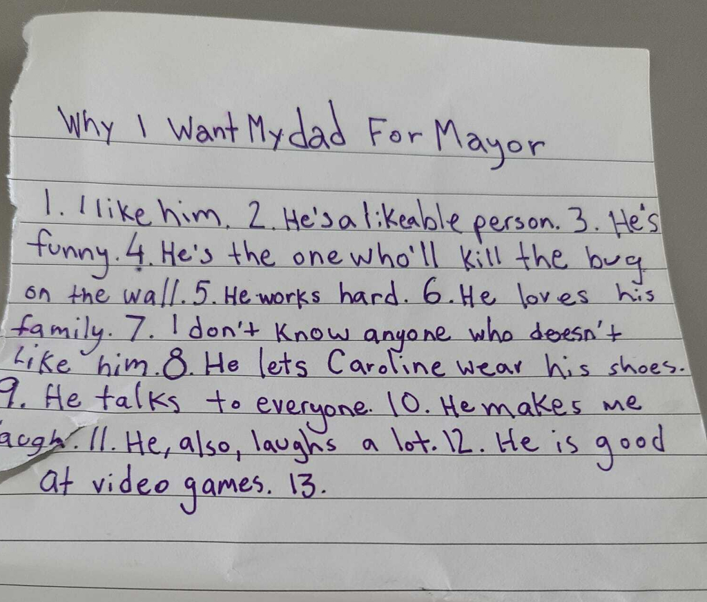 """""""Why I Want My Dad for Mayor"""""""